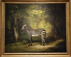 George Stubbs Zebra, tablou peisaj de vara cu zebra in padure, Tablouri Pictori Celebri, Reproduceri Picturi Celebre
