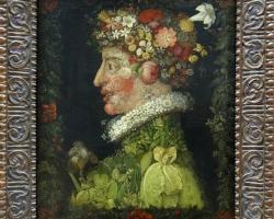 Giuseppe Arcimboldo Spring, 1573, Tablouri cu flori Realizate la Comanda, Reproduceri Picturi