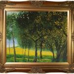 Gustav Klimt 'Fruit Trees, 1901 Luxury Line. Hand Painted Framed Canvas A