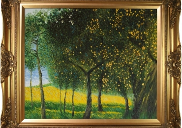 Gustav Klimt 'Fruit Trees, 1901 Luxury Line. Hand Painted Framed Canvas A