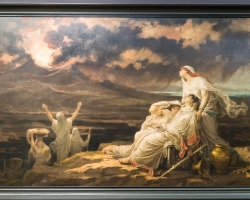 Hector Leroux, Herculanum, tablou peisaj marin, tablou cu tema dramatica, Tablouri Pictori Celebri, Reproduceri Picturi Celebre