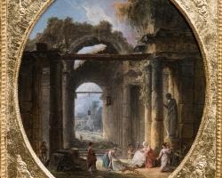 Huber Robert L'Arc de Janustablou peisaj de vara cu ruine, Tablouri Pictori Celebri, Reproduceri Picturi Celebre