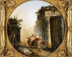 Hubert Robert, The Ruins tablou peisaj de vara, Reproduceri pictori celebri