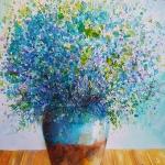 Tablouri flori albastre