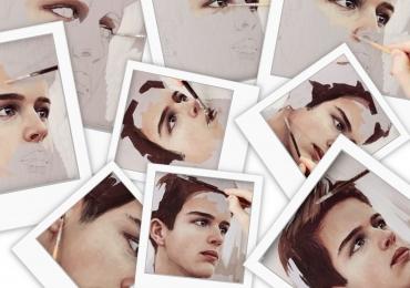 Idei de cadouri de dragobete, portrete la comanda, Tablou pictat dupa poza, portret de adolescnt, portret de baiat.
