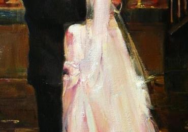 Idei de cadouri pentru mos nicolae, portrete la comanda, Tablou pictat manual ulei, portret de nunat