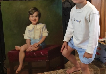 Idei de cadouri pentru toate persoanele, portrete la comanda, Tablou pictat cu portret de baietel