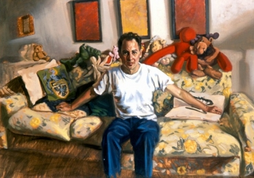 Idei de cadouri, portrete la comanda, Tablouri pictate cu rama sau fara rama, portret de barbat asezat pe canapea