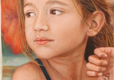 Idei de cadouri, portrete la comanda, Tablouri pictate cu rama sau fara rama, portret de fetita