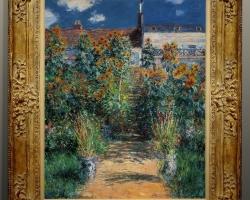 Il giardino a Vetheuil, Claude Monet tablou peisaj de vara, Reproduceri pictori celebri, tablou peisaj cu gradina de flori