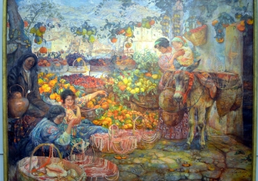 Isaak Brodsky, Tablou cu peisaj de vara, tablou cu oameni in natura, tablouri living, picturi in ulei pe panza, picturi cu peisaje