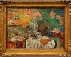James Ensor – Stillleben im Atelier 1889, Tablouri natura moarta Realizate la Comanda, Reprod