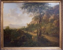 Jan Both,  tablou peisaj de vara, tablou cu peisaj pastoral,Reproduceri pictori celebri