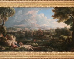 Jan Frans Van Bloemen, Roma Paesaggio, tablou peisaj de vara, Tablouri Pictori Celebri, Reproduceri Picturi Celebre