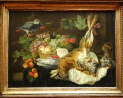 Jan Fyt Hare, fruit and parrot, Tablouri cu iepuri si fructeRealizate la Comanda, Reproduceri Pic