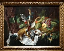 Jan Fyt Hunting still life with parrot, Tablouri cu animale si fructe Realizate la Comanda, Repro