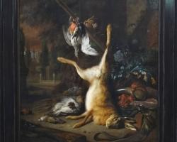 Jan Weenix Still life with dead rabbit and birds, Tablouri cu iepure vanat si pasari vanate Realiza