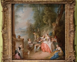 Jean Baptiste Pter, Tablou rococo, tablou baroc, tablou scena din parc, Tablou cu peisaj de vara, tablou cu parc, peisaj din natura
