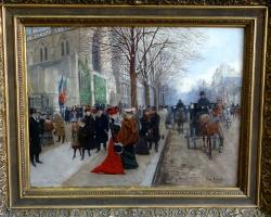 Jean Beraud, Tablouri Pictori Celebri, Reproduceri Picturi Celebre, tablouri cu aglomeratii urbane