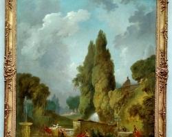 Jean Fragonard Blindman's Bluff 1775, tablou peisaj de vara cu gradina de flori, Tablouri Pictori Celebri, Reproduceri Picturi Celebre