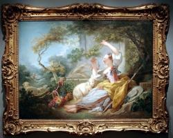 Jean Honore Fragonard, French, The Shepherdess tablou peisaj de vara cu flori, Tablou peisaj  pastoral Tablouri Pictori Celebri
