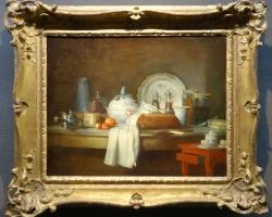 Jean-Siméon Chardin, La Table d'office, dit aussi Les Débris d'un déjeuner, 1763, Tablouri cu n