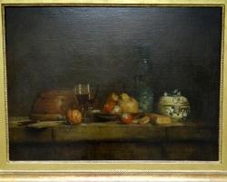 Jean-Simeon Chardin, Grapes and pomegranates 1763, Tablouri cu natura moarta Realizate la C