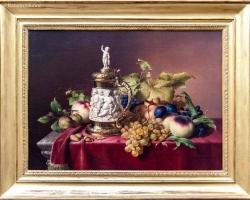 Johann Wilhelm Preyer – Fruit Dessert with an Ivory Beer Mug, 1838, Tablouri cu vas de bere si