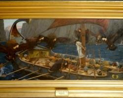 John William Waterhouse Ulysses and the Sirens, , Tablou cu peisaj marin, tablou nautic, tablou din mitologia greaca