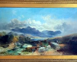 Joseph Horlor Exceptional Very Large Welsh Landscape. Tablou pictat manua