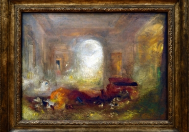 Joseph Mallord William Turner, Interior of a great house, the drawing room, East Cowes Castle 1830.