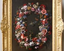Juan de ARELLANO Couronne de fleurs, oiseaux et papillions, Tablouri cu flori Realizate la Co
