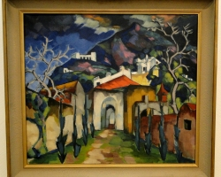 Konrad Magi Capri Island, tablou peisaj de vara abstract, tablou peisaj Italia, Tablouri Pictori Celebri, Reproduceri Picturi Celebre