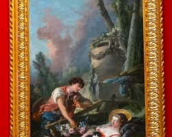 L'Aimable Pastorale François Boucher, 1762, tablou peisaj de vara cu indragostiti, Tablouri Pictori Celebri, Reproduceri Picturi Celebre