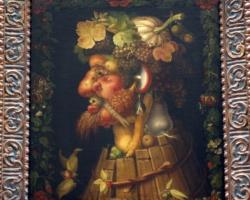 L'Automne Giuseppe Arcimboldo, tablou natura moarta cu fructe de toamna, tablou cu anotimpul toamna, tablou cu portret din fructe