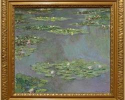 Lac cu fiori, tablou cu flori de apa, Tablou floral, peisaj cu nuferi, Tablou celebru pictat de Claude Monet Nymphèas