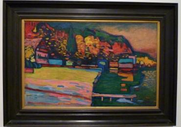 Lake Starnberg Wassily Kandinsky tablou peisaj de vara multicolor, Reproduceri pictori celebri