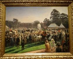 Laurits Regner Tuxen The Garden Party at Buckingham Palace, tablouri living, picturi in ulei pe panza, picturi cu peisaje