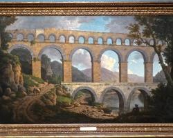 Le Pont du Gard, Nimes. William Marlow, tablou peisaj de vara, Tablouri Pictori Celebri, Reproduceri Picturi Celebre