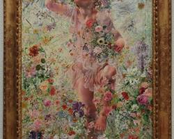 Leon Frederic The Four Seasons Spring, Tablou cu copil, tablou cu flori de primavara, tablou multicolor