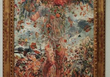 Leon Frederic The Four Seasons Winter, , Tablou din seria Cele patru anotimpuri, peisaj de iarna cu flori, Reproduceri Picturi Celebre