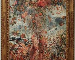 Leon Frederic The Four Seasons Winter, tablou celebru cu anotimpuri, tablou cu copil, tablou cu flori frunze aramii si fructe