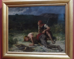 Les Eclaireurs gaulois, Evariste Luminais, tablou peisaj de vara, tablou cu vanatori, Tablouri Pictori Celebri, Reproduceri Picturi Celebre