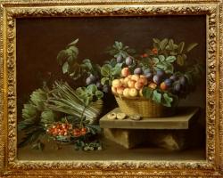 Louise Moillon Bodegón con frutas 1637, Tablouri cu legume flori si fructe Realizate la Comand