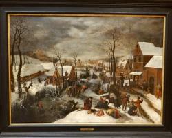 Lucas van Valckenborth Massacre of the Innocents, tablou peisaj de iarna, tablou peisaj rural, Tablouri Celebri, Reproduceri Celebre
