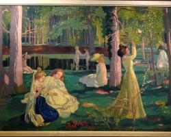 Maurice Denis Jeu de volant,, tablou peisaj de vara cu femei in parc, Tablouri Pictori Celebri, Reproduceri Picturi Celebre