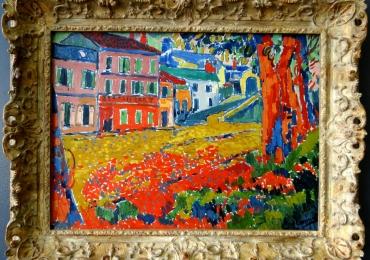 Maurice de Vlaminck Restaurant de la Machine a Bougival, tablou peisaj de vara, Tablouri Pictori Celebri, Reproduceri Picturi Celebre