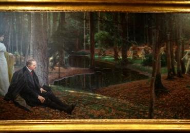 Maximilian Lenz Le peintre Friedrich König et Ida Kupelwieser dans une forêt, tablou peisaj de vara, Reproduceri Picturi Celebre cu paduri