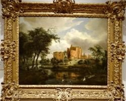 Meindert Hobbema The ruins of Brederode Castle, tablou peisaj de vara cu castel, Tablouri Pictori Celebri, Reproduceri Picturi Celebre