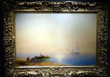 Misty Morning, Ivan Aivazovskytablou peisajmarin cu ceata, tablou cu vapoare, Tablouri Pictori Celebri, Reproduceri Picturi Celebre